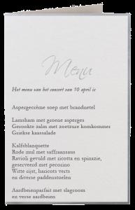 Kliphuis-menukaart